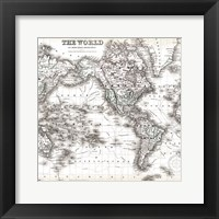 Framed World Map 1