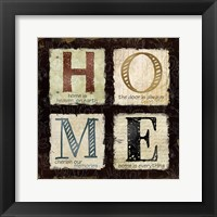 Home is Heaven Framed Print