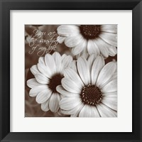 Framed Sepia Blossoms I