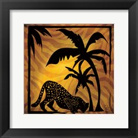 Framed Safari Silhouette I