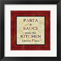 Pasta Sayings II Framed Print