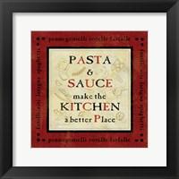 Pasta Sayings II Framed Print
