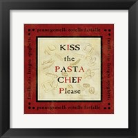 Pasta Sayings III Framed Print