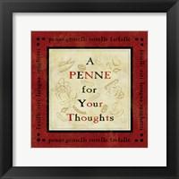 Pasta Sayings IV Framed Print