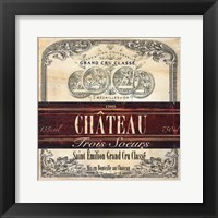 Framed Grand Vin Wine Label II