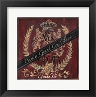 Framed Grand Vin Wine Label IV
