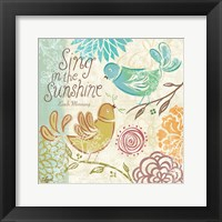 Bird Chirp I Framed Print