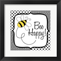 Be Happy and Brave I Framed Print