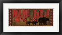 Don't Feed Mama Bear I Framed Print