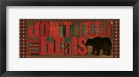 Don't Feed Mama Bear II Framed Print