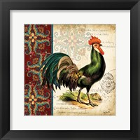 Suzani Rooster I Framed Print