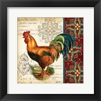 Suzani Rooster II Framed Print