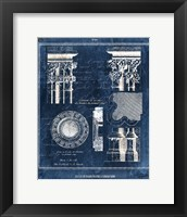 Vintage Blueprints II Framed Print