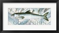 Fishing Sign II Framed Print