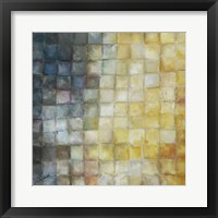 Yellow Gray Mosaics I Framed Print