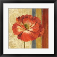 Poppy Tapestry Stripes II Framed Print