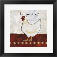 French Country Kitchen II (Le Poulet) Framed Print