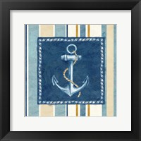 Framed Nautical Stripe III