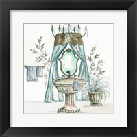 French Bath Sketch II (sink) Framed Print
