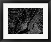 Framed Environs NYC Black