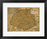 Framed Environs Paris Sepia