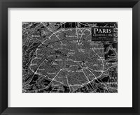 Framed Environs Paris Black 2