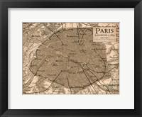 Framed Environs Paris Beige