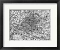 Framed Environs London Gray