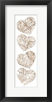 Map To  Your Heart  2 Framed Print