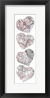 Map To  Your Heart 5 Framed Print