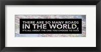 Inspirational Map (So Many Roads) Framed Print