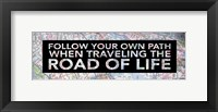 Inspirational Map (Road of Life) Framed Print