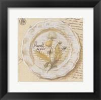 Assiette, Pissenlit des prs Framed Print