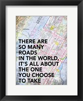 Roads in The World Framed Print