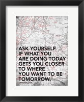 Ask Yourself Framed Print