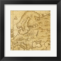 Vintage Map C Framed Print