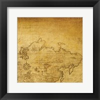 Vintage Map D Framed Print