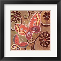 Butterfly Bustle Rust Framed Print