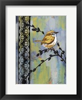Framed Bird Song Buds I