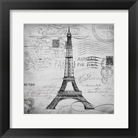 Framed Eco Vintage Paris 1
