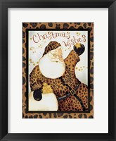 Framed Cheetah Santa