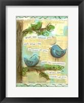 Framed Birds Blue 2