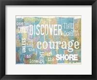 Framed Discover Courage