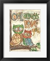 Framed Owl Always