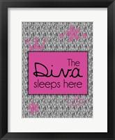 Diva Sleeps Framed Print