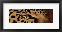 Leopard Eyes Framed Print