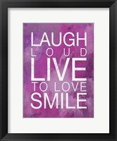 Watercolor Laugh Framed Print