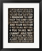 Framed Full 10 Commandments