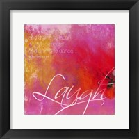 Laugh Framed Print
