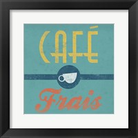 Cafe Frais Framed Print